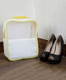 My Gift Booth Travel Shoe Organizer - White And Yellow