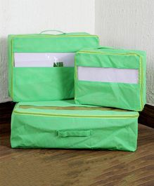My Gift Booth Set Of 3 Travel Organizer - Green