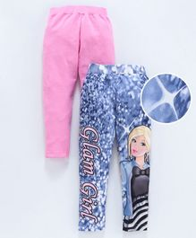 Birthday Girl Full Length Leggings Pack of 2 - Pink Blue