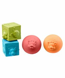 Sophie la Girafe So Sure Two Cubes And Two Balls Set - Multicolor