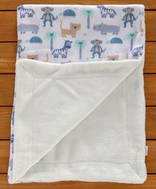 Mee Mee Soft Double Layer Reversible  Baby Blanket - Blue