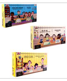 Desi Toys Strategy Board Games 6 in 1 Pack - Multicolour