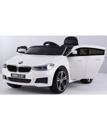 Marktech BMW 6 GT Battery Operated Ride On Car with Light and Music - White