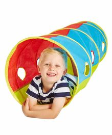 Worlds Apart Kid Active Pop Up Play Tunnel - Multicolor