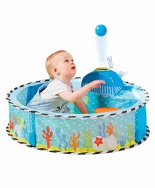 Worlds Apart My First Kid Active Undersea Pop Up Baby Sensory Ball Pit Launcher - Blue