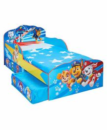 Worlds Apart Kid's Bed with Storage Drawers Paw Patrol Print - Blue