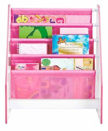 Worlds Apart 4 Compartment Kid's Bookshelf Floral Print - Pink