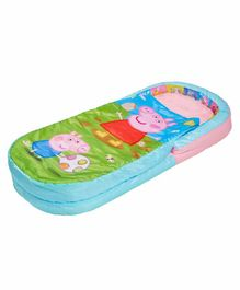 Worlds Apart 2 in 1 Airbed cum Sleeping Bag Peppa Pig Print - Blue