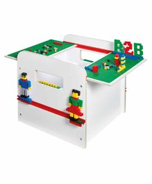 Worlds Apart Kid's Storage Box with Sliding Lids - White
