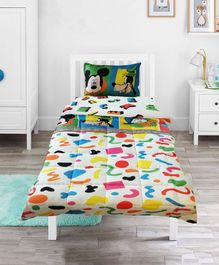 Pace Disney Mickey Mouse Alphabets Single Bed Comforter - Multicolor