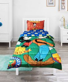 Pace Disney Mickey Mouse Goal Single Bed Comforter - Green