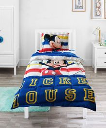 Pace Disney Mickey Mouse Stripes Single Bed Comforter - Blue