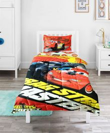 Pace Disney Cars Dragstrip Masters Single Bed Comforter Set - Red