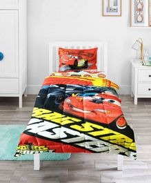 Pace Disney Cars Dragstrip Masters Single Bed Comforter - Red Yellow