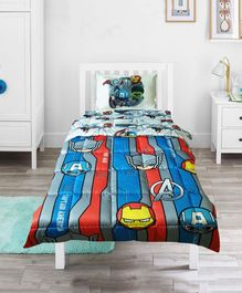 Pace Marvel Avengers Mightiest Heroes Single Bed Comforter Set - Blue
