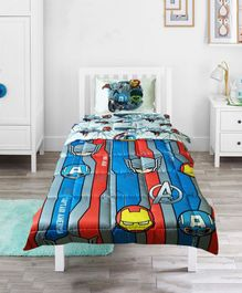 Pace Marvel Avengers Mightiest Heroes Single Bed Comforter - Blue