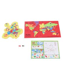 Imagi Make World Map With Flags and Capitals Color May Vary - 78 Pieces