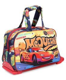 Disney Pixar Car Duffle Trolley Bag with Car Print Red - Red