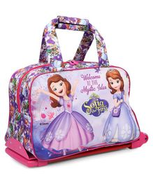 Disney Sofia The First Trolley Bag - Pink Purple