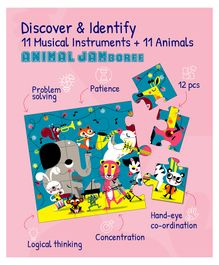 Playqid Animal Jamboree Puzzle - 12 Pieces