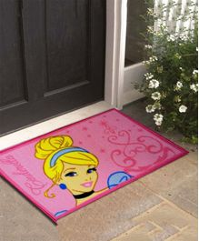 Athom Trendz Disney Princess Door Mat - Pink