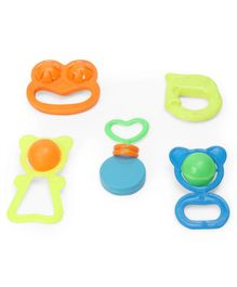 Mamma Mia Baby Rattle Set Pack of 5 - Multicolour