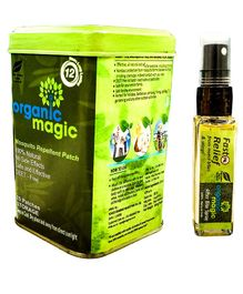 Organic magic Mosquito repellents combo - 25 Patches & 15 ml