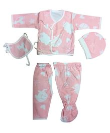 Syga Clothing Gift Set Animal Print Pink - 5 Pieces