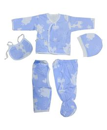 Syga Clothing Gift Set Animal Print Blue - 5 Pieces
