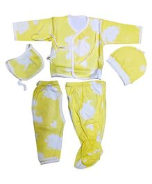 Syga Clothing Gift Set Animal Print Yellow - 5 Pieces