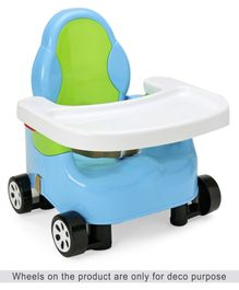 Baby Booster Seat with Adjustable Height - Blue Green