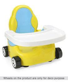 Baby Booster Seat with Adjustable Height - Yellow Blue