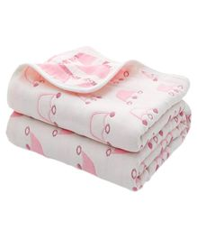 Syga Pure Soft Cotton Blanket Crown Print - Pink