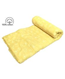 Rio Pure Soft Cotton Handmade Quilt Comforter Blanket Spaceships Design -  Yellow