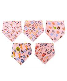 Vibgyor Vibes Cotton Bandanna Pack of 5 - Pink