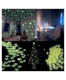 VibgyorVibes Glow in Dark Stickers of 100 Stars - Multicolor