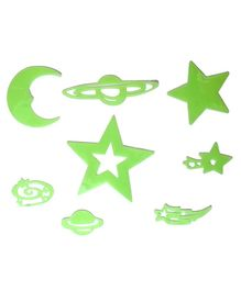 VibgyorVibes Glow in Dark Stickers of Heavenly Bodies - Multicolor