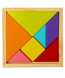 VibgyorVibes Wooden Tangram Puzzle Multicolor - 7 Pieces