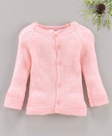 Little Angels Full Sleeves Sweater - Neon Pink