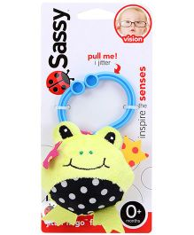 Sassy Jitter N Go Frog Clip On Toy - Yellow