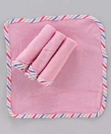 Ohms Terry Napkins Pack of 4 - Pink