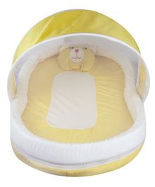 Litte Hug Baby Mattress with Mosquito Net and Bumper Guard - Yellow