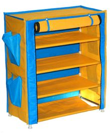 Fabura Multipurpose Rack With 4 Compartments And Cover - Yellow