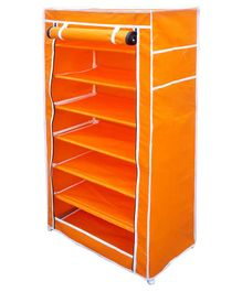 Fabura Multipurpose Rack With 7 Compartments And Cover - Orange