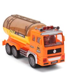Dr.Toy Battery Operated Building Tanker Truck Toy - Orange