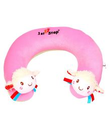 1st Step Doll Faced Neck Support Pillow - Pink
