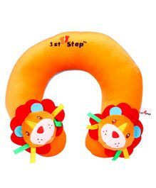 1st Step Lion Faced Neck Support Pillow - Orange
