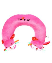 1st Step Rabbit Faced Neck Support Pillow - Pink