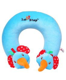 1st Step Elephant Faced Neck Support Pillow - Blue