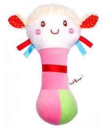 1st Step Doll Face Plush Rattle Toy - Pink